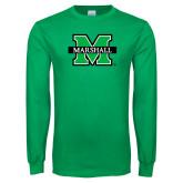 Kelly Green Long Sleeve T Shirt-M Marshall
