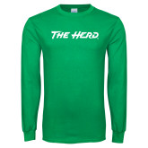 Kelly Green Long Sleeve T Shirt-The Herd
