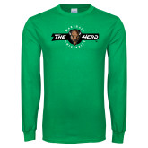 Kelly Green Long Sleeve T Shirt-Marshall University The Herd