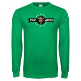 Kelly Green Long Sleeve T Shirt-Marshall University The Herd
