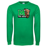Kelly Green Long Sleeve T Shirt-M The Herd w Head