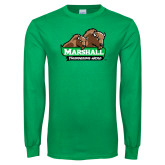 Kelly Green Long Sleeve T Shirt-Thundering Herd in Front of Herd