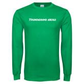 Kelly Green Long Sleeve T Shirt-Thundering Herd