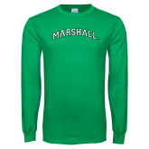 Kelly Green Long Sleeve T Shirt-Arched Marshall