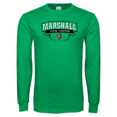 Kelly Green Long Sleeve T Shirt-Marshall The Herd Design