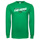 Kelly Green Long Sleeve T Shirt-The Herd Fancy Lines