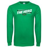 Kelly Green Long Sleeve T Shirt-The Herd Fancy Lines