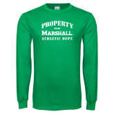 Kelly Green Long Sleeve T Shirt-Property 0f Marshall