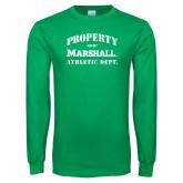 Kelly Green Long Sleeve T Shirt-Property 0f Marshall