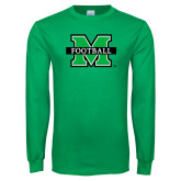Kelly Green Long Sleeve T Shirt-Football