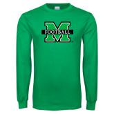 Kelly Green Long Sleeve T Shirt-Football
