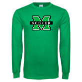 Kelly Green Long Sleeve T Shirt-Soccer