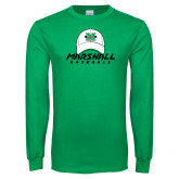 Kelly Green Long Sleeve T Shirt-Baseball Hat Design