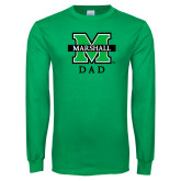 Kelly Green Long Sleeve T Shirt-Dad