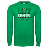 Kelly Green Long Sleeve T Shirt-Gildan New Mexico Bowl