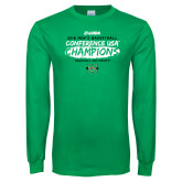Kelly Green Long Sleeve T Shirt-2018 Mens Basketball Champions - Brush