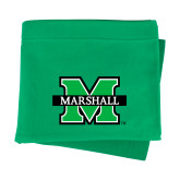Kelly Green Sweatshirt Blanket-M Marshall