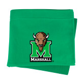 Kelly Green Sweatshirt Blanket-Official Logo