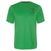 Performance Kelly Green Tee-Official Logo