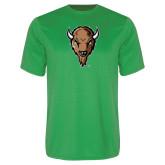 Performance Kelly Green Tee-Mascot Head