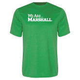 Performance Kelly Green Tee-We Are Marshall