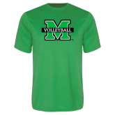 Performance Kelly Green Tee-Volleyball