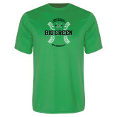 Performance Kelly Green Tee-Baseball Ball Design