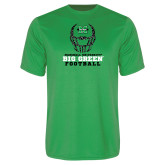 Performance Kelly Green Tee-Football Helmet Design