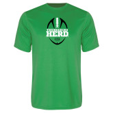 Performance Kelly Green Tee-Football Vertical Design