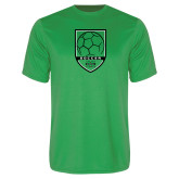 Performance Kelly Green Tee-Soccer Shield Design
