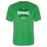 Performance Kelly Green Tee-Softball Ball Design