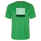Performance Kelly Green Tee-Tennis Stacked Design