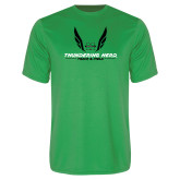Performance Kelly Green Tee-Track and Field Wings Design