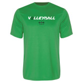 Performance Kelly Green Tee-Volleyball Ball Design
