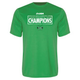 Performance Kelly Green Tee-2018 Mens Basketball Champions - Box