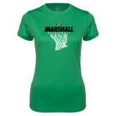 Ladies Syntrel Performance Kelly Tee-Basketball Net Design