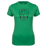 Ladies Syntrel Performance Kelly Tee-Soccer Shield Design
