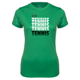 Ladies Syntrel Performance Kelly Tee-Tennis Stacked Design