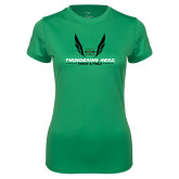 Ladies Syntrel Performance Kelly Tee-Track and Field Wings Design