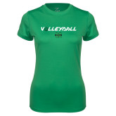 Ladies Syntrel Performance Kelly Tee-Volleyball Ball Design