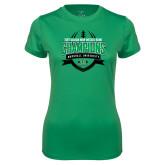 Ladies Syntrel Performance Kelly Green Tee-Gildan New Mexico Bowl