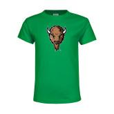 Youth Kelly Green T Shirt-Mascot Head