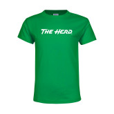 Youth Kelly Green T Shirt-The Herd