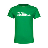 Youth Kelly Green T Shirt-We Are Marshall