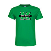 Youth Kelly Green T Shirt-M The Herd