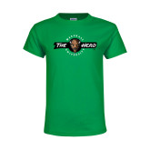 Youth Kelly Green T Shirt-Marshall University The Herd