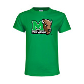 Youth Kelly Green T Shirt-M The Herd w Head