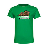 Youth Kelly Green T Shirt-Thundering Herd in Front of Herd