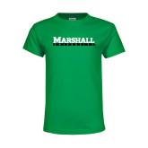 Youth Kelly Green T Shirt-Marshall University