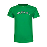 Youth Kelly Green T Shirt-Arched Marshall